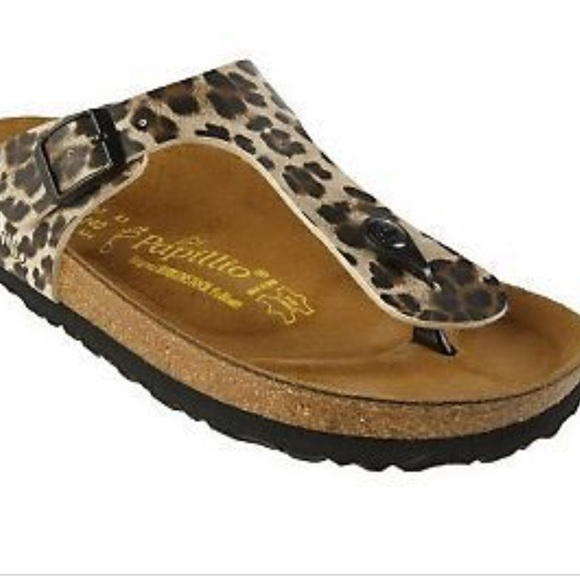 birkenstock leopard print sandals